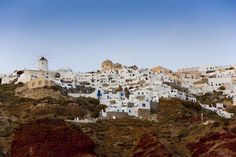 View of Thira from the sea.
