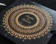 Check out our wedding guest book selection for the very best in unique or custom, handmade pieces from our shops. Wedding Guest Book, Our Wedding, Wedding Scrapbook, Guestbook, Indian Weddings, Mandala, Spiritual, Artist, Artists