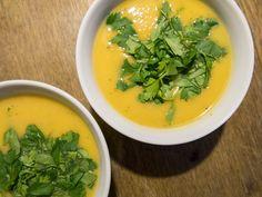 Recept: Soep van knolselderij, zoete aardappel en appel