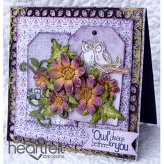Heartfelt Creations - Affectionate Owls Blooming Branch Project