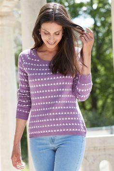 Pure Cotton Star Jumper Fall Winter, Autumn, Jumper, Pullover, Pure Products, Stars, Sweaters, Cotton, Fashion