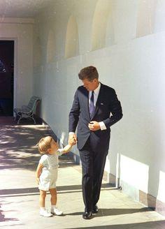 ST-C333-5-63. President John F. Kennedy with John F. Kennedy, Jr. - John F. Kennedy Presidential Library & Museum