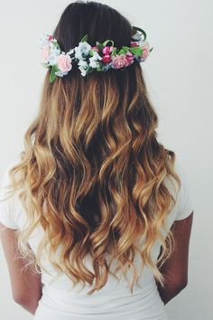 flower headband tumblr girl - Google Search