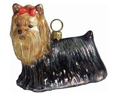 Joy to the World Collectibles European Blown Glass Pet Ornament, Yorkshire Terrier