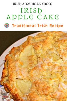 Irish apple cake is also known as Kerry apple cake and is a traditional Irish cake or rustic apple bread. Irish Cake, Irish Apple Cake, Irish Bread, Irish Desserts, Asian Desserts, Irish Appetizers, Apple Recipes, Baking Recipes, Dessert Recipes