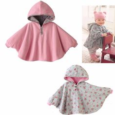 Baby Boy Girl Two-sided Cloak Poncho Cape Hoodie Coats Outwear Jacket Jumpers Clothes Winter Warm - Kid Shop Global - Kids & Baby Shop Online - baby & kids clothing, toys for baby & kid not in these cheesy colors. Sewing For Kids, Baby Sewing, Sewing Clothes, Diy Clothes, Cape Bebe, Jumper Outfit, Kids Outfits, Baby Outfits, Baby Shop Online