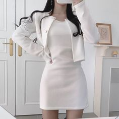 Kpop Fashion Outfits, Korean Outfits, Mode Outfits, Korean Clothes, Korean Girl Fashion, Ulzzang Fashion, Cute Skirt Outfits, Cute Casual Outfits, Aesthetic Clothes