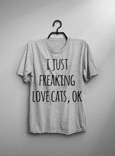 New cheap pet gift uploaded at SketchGrowl: Love Cats, OK? T-Shirt Gifts For Pet Lovers, Cat Lovers, Mens Tees, Shirt Men, Pet Costumes, Cat Shirts, Man In Love, Cool Logo, Real Man