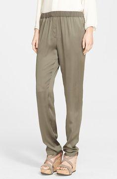 Fabiana Filippi Stretch Silk Charmeuse Pants