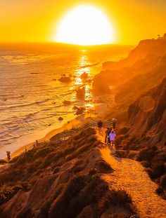 Beautiful sunset in Malibu, California, USA