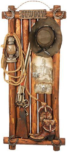 Placa decorativa em madeira e resina cowboy Estilo Country Western Placa  decorativa em madeira e resina 7002800b57d