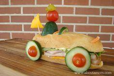 Racecar Sandwich - Fun Sandwich Ideas for Kids