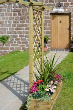 Why not line a pathway or support Arches with the Grange Elite Rectangular Planter?