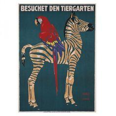Munich Zoo Zebra Canvas Print by A La Mode Studio...Available at De La Madele