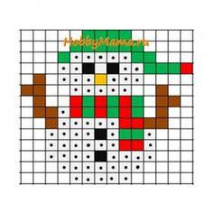 HAMA - PERLER BEADS / PERLES à REPASSER / STRIJKPARELS - CHRISTMAS / KERSTMIS - Snowman Christmas perler bead pattern