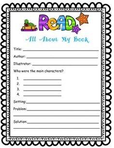 A worksheet for students to fill out about any book they are reading! A great resource for early finishers, or extra work. Keeps students busy, while teaching about  main story elements.