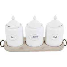 Adrianna Canister Set with Tray.