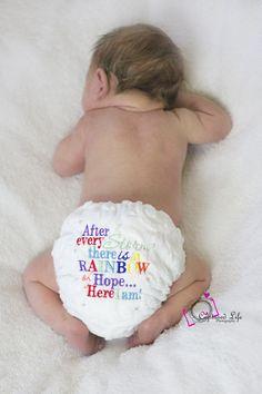 my rainbow baby! Diaper by Cherry Pie Nappies