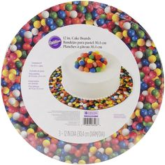 Wilton Colorfull Gumball Cake Stand and Boards 3 Pack