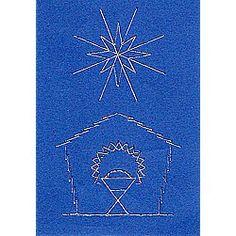 Stitching Cards Nativity