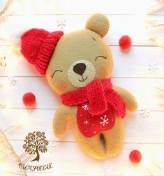 ❤ Filc mackó téli ruhában (ingyenes szabásminta) ❤Mindy -  kreatív ötletek és dekorációk minden napra