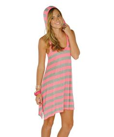 Take a look at this Neon Pink Stripe Hooded Racerback Dress by Lagaci Sport on today! I likey. New Outfits, Cute Outfits, Affordable Dresses, Edwardian Fashion, Pink Stripes, Frocks, Beautiful Dresses, Womens Fashion, Fashion Trends