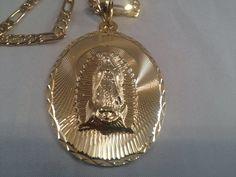Virgen de Guadalupe Cadena Oro K Rosario by RosariesAndAcc on Etsy, $129.99