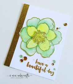 EBE; Beautiful Day; Mondo Magnolia; green; gold; splatter