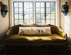 "thebowerbirds: "" Source: Lonny Amazing sofa. Love the colour. Yep Mustard Yellow again. Love it. """