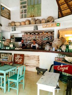 Posada Margherita dishes up fresh pasta in its perfectly imperfectly decorated space directly on the beach.