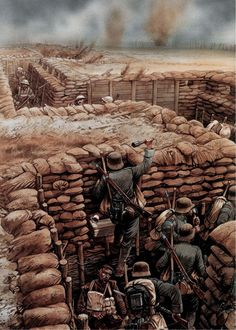Close Quarter Fighting in the Trenches at Cambrai ,1917.