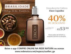 Até o dia 11/09/16, #perfume masculino Natura Ekos Copaíba com 40% de desconto, não perca essa chance! A própria Natura entrega na sua casa em qualquer lugar do Brasil. Pague com boleto bancário ou divida em até 6x s/juros no cartão (parcela com valor mínimo de R$ 30,00) #amazonia #copaiba #perfumemasculino #barba #homem #vida #charme #estilo