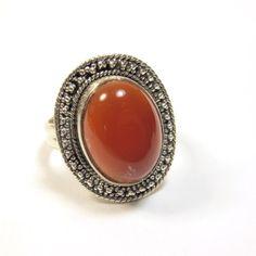 Bague en argent avec cornaline  http://www.bijouxindiens.net/nouveaux-produits?n=161
