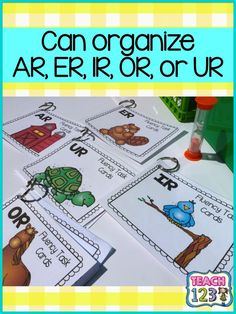 Teach123 - tips for teaching elementary school: R-Controlled Vowels: Fluency Task Card $