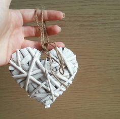 Rattan decorative heart shabby chic rustic by MKedraDecoupage, $7.50