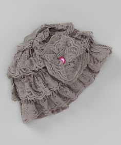 Take a look at this Gray Lace Hat by Head over Heels on #zulily today!