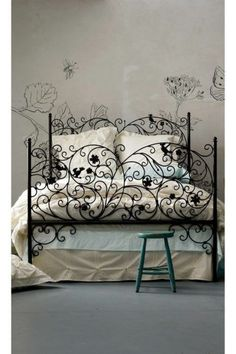 Iron scrollwork bed!    Dream Bedroom Designs : http://theberry.com/2011/06/23/my-dream-bedrooms-34-photos/