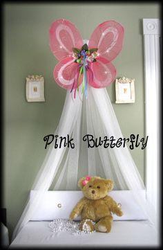 Butterfly Photo Crib Nursery Canopy Bed Fairy by SoZoeyBoutique Nursery Room, Girl Nursery, Girls Bedroom, Nursery Decor, Nursery Ideas, Baby Room, Room Ideas, Butterfly Room, Butterfly Photos