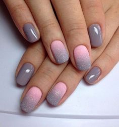 Powder pink and grey....how gorgeous