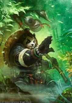 Pandaren Ubicados entre el mito y la leyenda, raramente vistos y muy poco comprendidos, los enigmáticos Pandaren fueron por muchísimo tiempo un misterio para las otras razas, una rasa mas tranquila y grandes habilidades cuerpo a cuerpo peligro 8-9