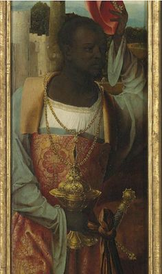 Master of the Antwerp Adoration Adoration of the Magi Antwerp oil on panel, shaped top European History, Art History, Medieval Art, Renaissance Art, Black Royalty, African Royalty, Black History Facts, Afro Art, African Diaspora