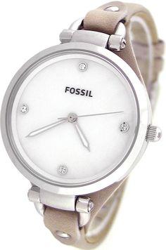 e894def200f Fossil Women s ES3150 Georgia Three Hand Bone Leather Strap Watch    Disclosure  Affiliate link