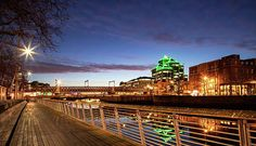 Liffey Boardwalk - Dublin Print by Barry O Carroll Customs House, Dublin City, Beverly Hills, Fine Art America, Bridge, Instagram Images, United States, River, Photography