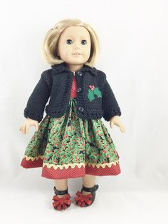American Girl Doll Clothes Black Hand Knit by dressurdolly2