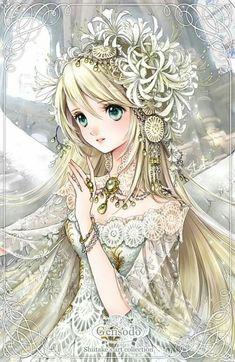 Character Inspiration, Character Design, Anime Art Fantasy, Anime Girl Drawings, Anime Princess, Hindu Art, Beautiful Anime Girl, Fairy Art, Fairy Dolls