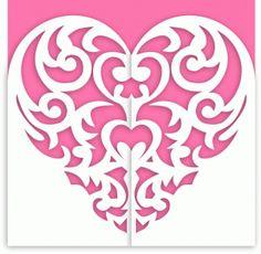Silhouette Design Store - View Design #43317: baroque heart gatefold card