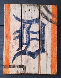 Old English D Detroit Tigers Bleachers by HotShotPalletworks, $42.00