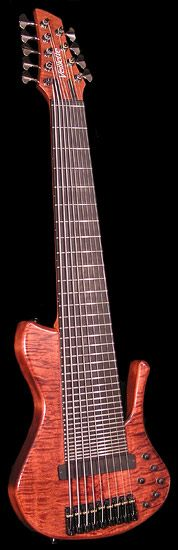 Have you ever seen such a thing!!?? Veillette Guitars, Custom 9-string Bass for Steve Nishimura #358