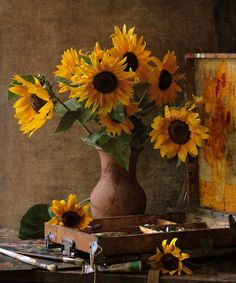 sunflower -- love the rush patina with the yellow