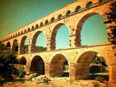 Pont du Gard, France Pont Du Gard, France, Spaces, Travel, Viajes, Traveling, French, Trips, Tourism
